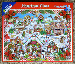 Gingerbread Village Lori Schory White Mountain Jigsaw Puzzle 1000 Pcs Co... - $10.00