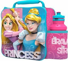 Disney Princess 3d Thermal Lunch Bag With Sports Bottle - $22.59
