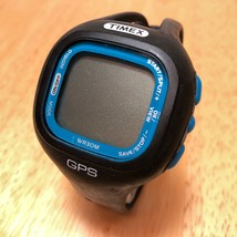 Timex GPS M434 Mens Black Blue Fitness Multisports Excise Digital Watch~... - $23.74