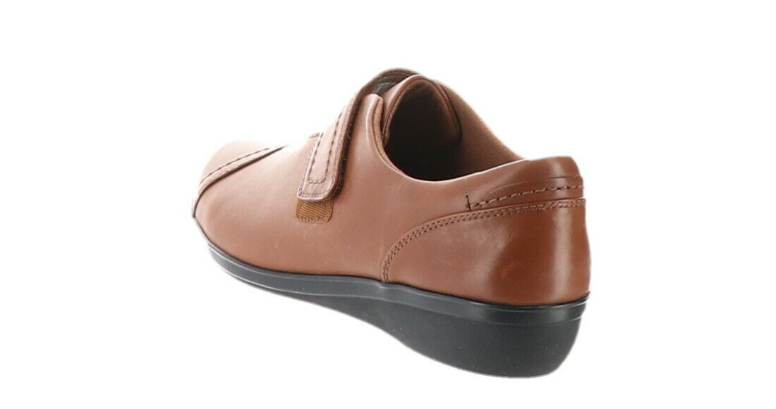 Clarks Leather Monk Strap Shoes Everlay Dixie Dark Tan 6.5M NEW A296332