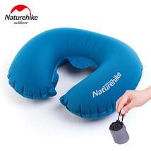 Traveling Neck Pillow Headrest Travel Kit U Shape Inflatable Portable Na... - $335,43 MXN