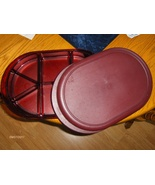 Tupperware Preludio Divided Sectioned Serving Tray Set Cranberry Serving... - $34.97
