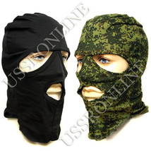 Russian Military Army 3 Hole Face Mask Balaclava Digital Flora Camo / Black - $5.76