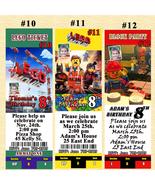 Lego The Movie Birthday Invitation 10 ea w/Env Personalized Custom Made - $11.00