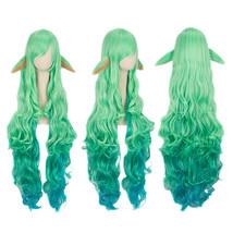 League of Legends Soraka Star Guardian Wavy Long Wig Green Gradient Cosp... - $32.00