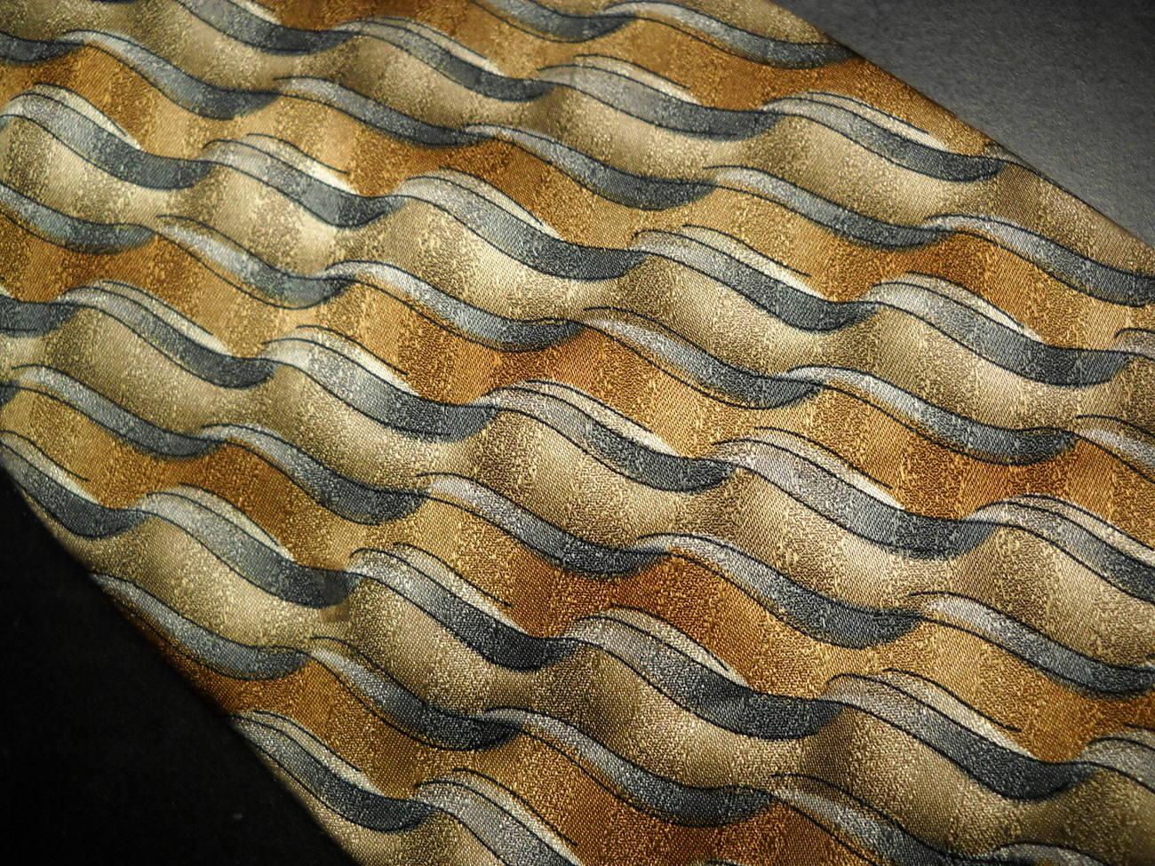 Grateful Dead Neck Tie Cool Breeze Sixteenth Set Silk Hand Made Golden Browns