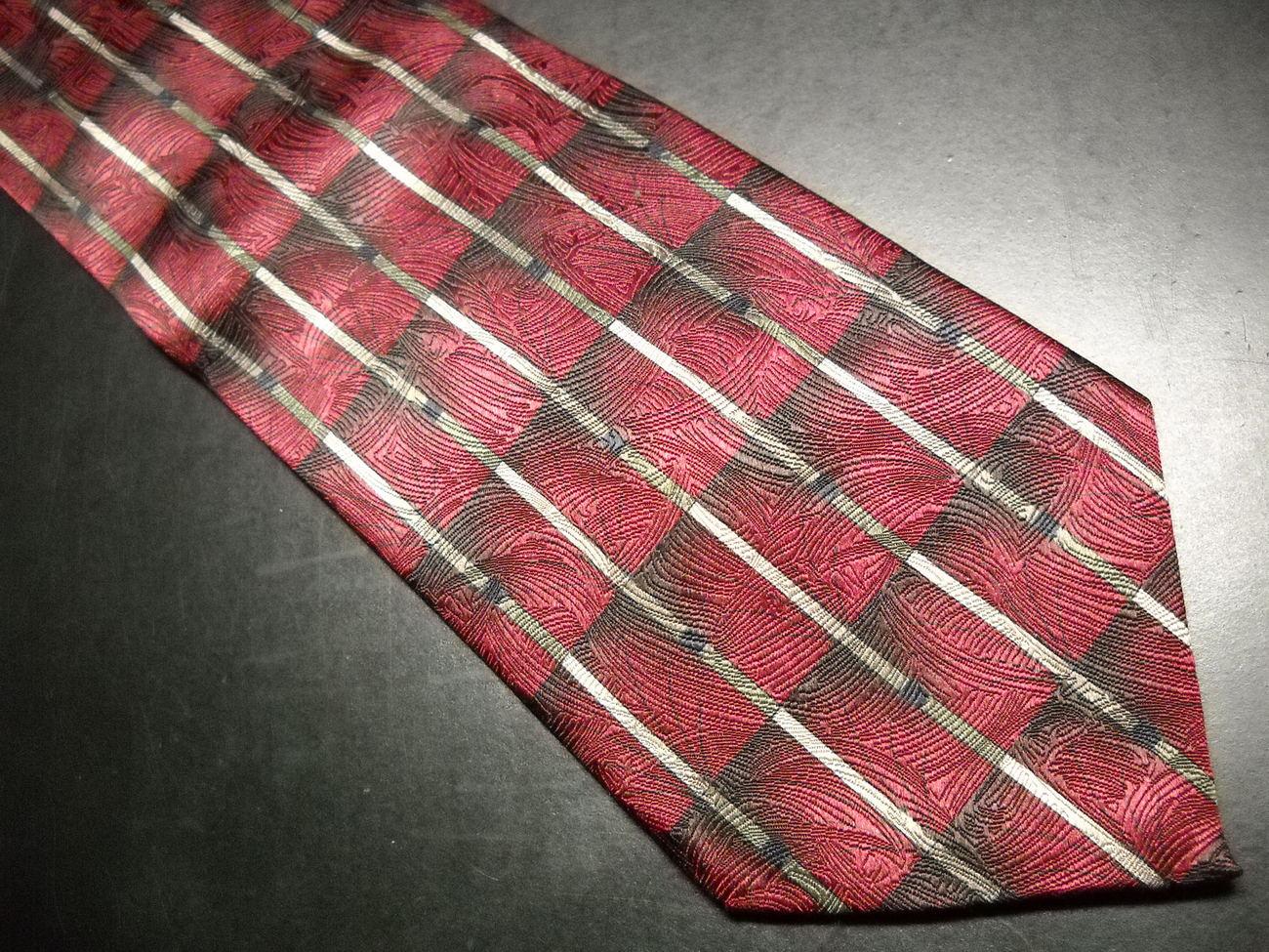Grateful Dead Neck Tie It Grows 11th Set Silk Reds Grays