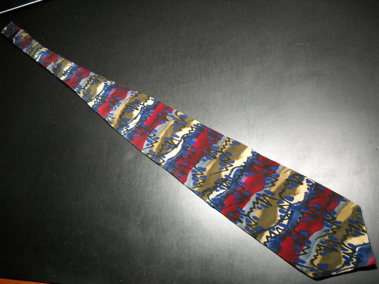 Grateful Dead Neck Tie Symesthesia Second Set Reds