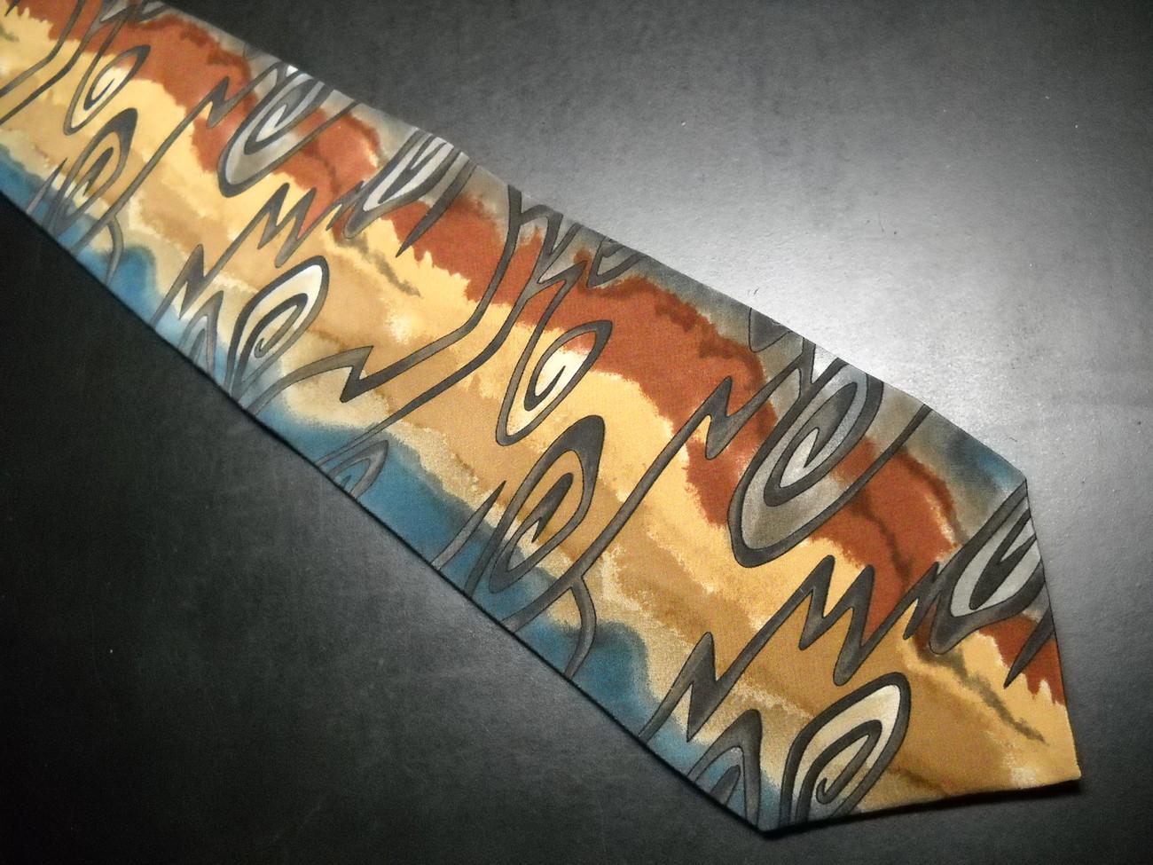 Grateful Dead Neck Tie Electric First Set Blues Browns Dead Head Logo Silk