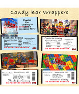 Lego The Movie Birthday Candy Wrappers 10 ea Personalized Custom Made - $10.00