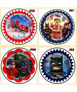 Lego The Movie Birthday Stickers 1 Sheet Round Personalized Custom Made - $5.00