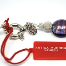 Necklace Antica Murrina Venezia, Glass Murano, Silver 925, Oval Purple, CO015A05 image 3