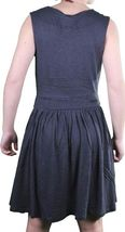 Bench Young Womens Navy Pincrop Cotton Blend Summer Casual Dress L XL NWT image 4