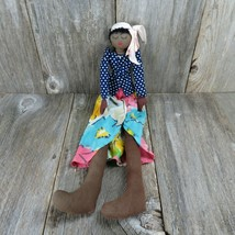 Vintage Black Americana Cloth Rag Doll Folk Primitive Soft Body Handmade... - $397.97