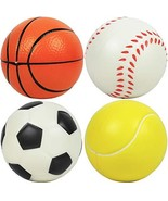 """Kiddie Play Set of 4 Soft Balls for Toddlers 4"""" Soccer Ball for Kids - $22.87"""