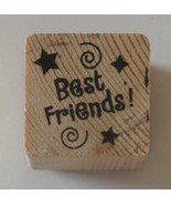 """Best Friends Small Rubber Stamp by Stampabilities 1"""" x 1"""" - $3.91"""