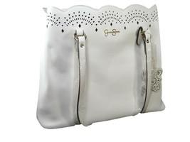 Jessica Simpson Logo Purse Hand Bag Shoulder Satchel White Wedding NWT - $98.99