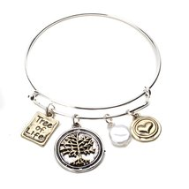 Inspired Silver Gold Tree of Life Charm Accompanied with Gold Heart Slee... - $395,20 MXN