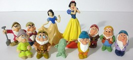 11 Collectible Snow White And The Seven Dwarfs Figures- Applause - DecoPac - $24.75