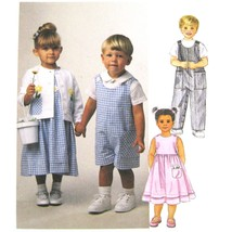 McCalls Sewing Pattern 2033 Toddler Dress Jacket Short Sleeve Shirt Romp... - $6.95