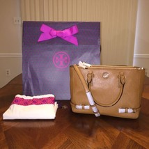NWT Tory Burch Robinson Small Multi Tote in Tigers Eye with Tory Gift Bag - $336.24