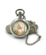 Peter Rabbit Pocket Watch Necklace, Beatrix Potter Jewellery, Peter Rabb... - $12.99