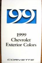 1999 Chevrolet Corvette Color & Trim Paint Chip Brochure- Xlnt Original - $5.69