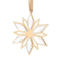 NWT Swarovski Crystal Christmas Ornament Golden Star 5064267 - $19.79