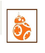 BB8 Star Wars robot silhouette cross stitch pattern in pdf - $7.00