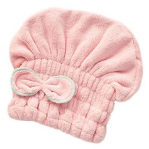 Microfiber Bath Towel Hair Dry Hat Quick Drying Bath Cap For Short Hair(Pink)