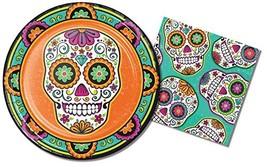 Halloween/DIO De Los Muertos/Day of The Dead/Sugar Skull Party Supplies ... - $28.31 CAD