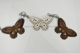 Coach F58996 /F58997 Studded Leather Butterfly Keyring/Key-Clip/ Bag Charm Brown image 2
