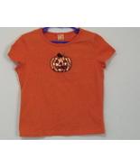 Girls Halloween Orange Cap Sleeve Top Size 6 to 6X - $4.95