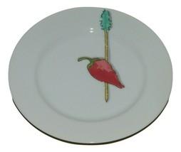 Crate & Barrel Nancy Green Tidbits Red Pepper Plate Appetizer 15153 - $17.81
