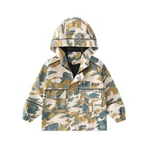 Boy's Trench Coats Camouflage Hoody Casual Outwear - $44.99
