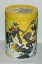 Teenage Mutant Ninja Turtles Large Round Illustrated Tin Coin Bank Style... - $10.69