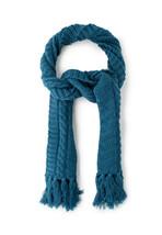 Diesel Unisex K-Spirit 00S3J4 Coarse Knitting Scarf Blue - $114.84