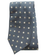 Mens 59 Inch Necktie by Croft & Barrow Silk Black Geometric Pattern Neck... - $9.95