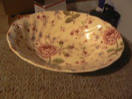 Johnson Brothers Roe Chintz oval bowl 1 available - $28.96