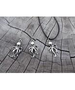 Tropicalia Handcrafted Necklace Earrings Octopus Sea Theme Tibetan Silve... - $1.50+