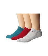 Nike Dri-Fit Half Cushion No Show Training Socks-Red/Gray/Sea Green-Large - $20.89
