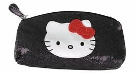 Hello Kitty Sparkle Glitter Cosmetic Makeup Pencil School Supplies Case Purse