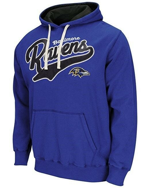 Baltimore Ravens Hoodie Men's NFL Wild Card Pullover Fleece Hooded Sweatshirt