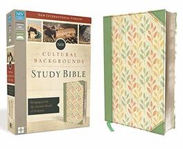 NIV, Cultural Backgrounds Study Bible, Leathersoft, Green, Red Letter Ed... - $99.99