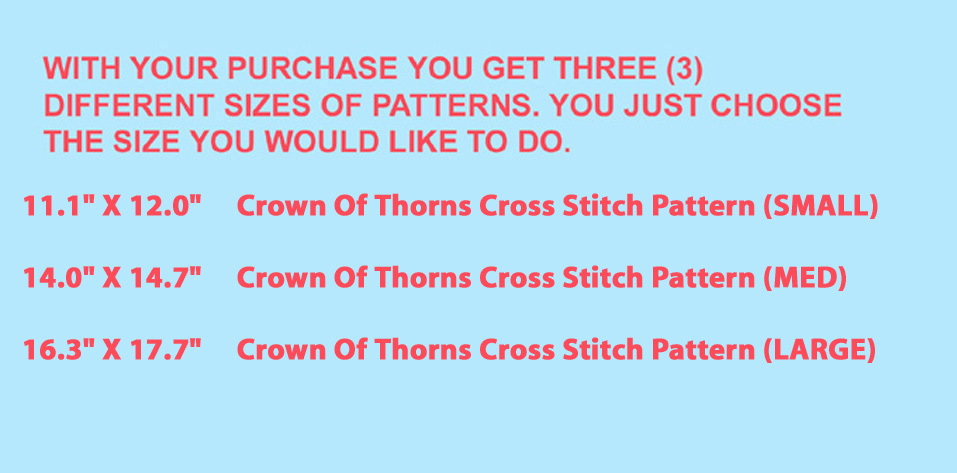 Crown Of Thorns Cross Stitch Pattern***L@@K***