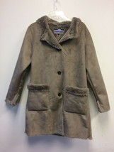 Laura Scott Brown Button Up Coat Large NWOT - $47.49