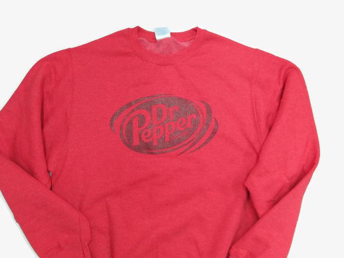 Dr. Pepper Sweatshirt Soft Heathered Red Burgundy Logo Medium- BRAND NEW