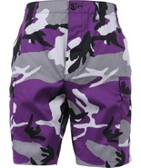 Mens Purple Camouflage Military BDU Cargo Shorts - $21.99+