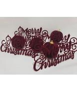 (8) Christmas Red Velvet Ball Christmas Ornaments & Merry Christmas Deco... - $26.99