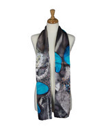 AamiraA Butterfly Treasure Mulberry Satin Silk Stole Women Scarf Free Sh... - €63,03 EUR